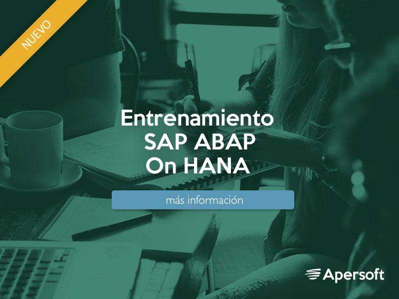 Entrenamiento ABAP for SAP HANA