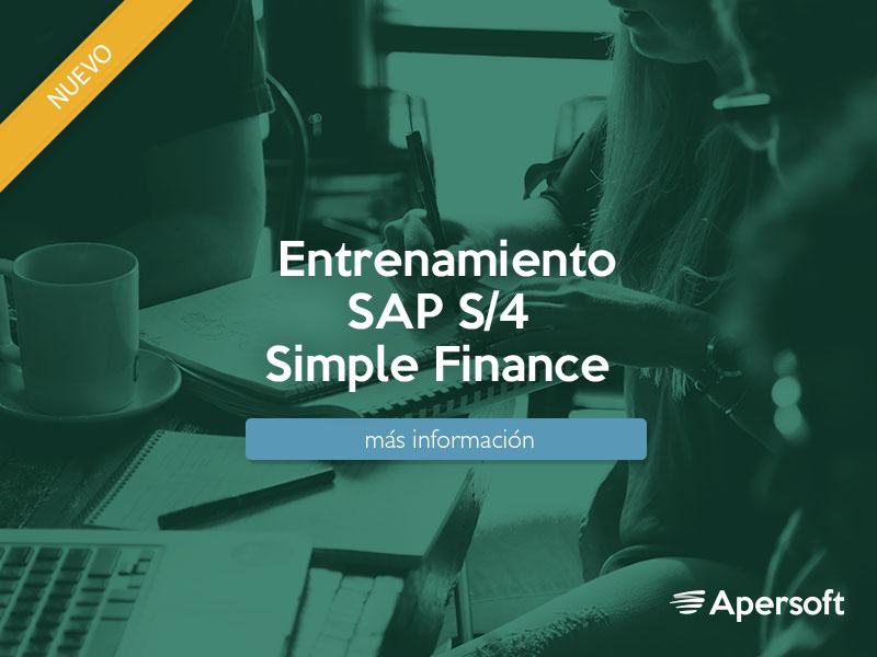 Entrenamiento SAP S/4 Simple Finance