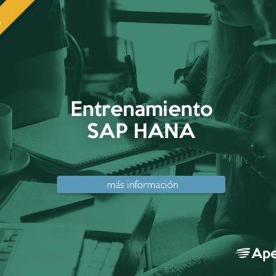 Entrenamiento SAP HANA.