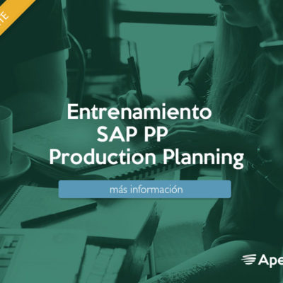 Entrenamiento SAP (PP) Production Planning.
